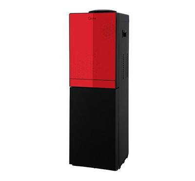 Midea Water Dispenser Floor Standing With Fridge 650W Red/Black.