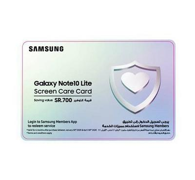 Samsung Galaxy Note 10 Lite Care Card