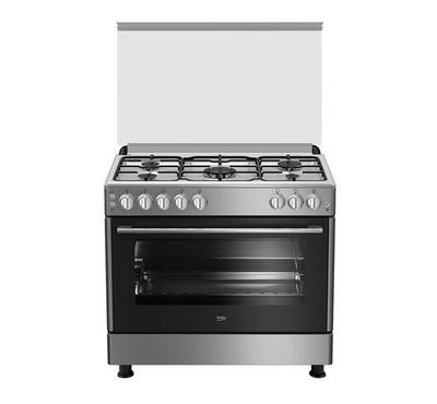 BEKO 90X60 Freestanding Cooker , 5 Gas Burner, Enamel Iron , Full Safety, INOX.