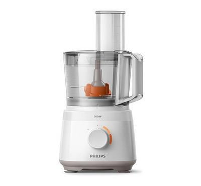 Philips Compact Food Processor,2.1L, 700W, 2 Speed,16 Functions , White