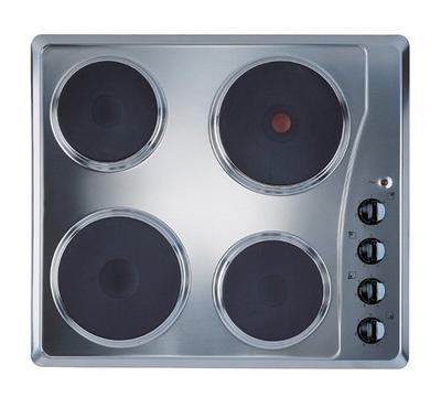Ariston Built-In Hob, 5500W 4 Electric Hot Plates, 60 cms, Stainless Steel