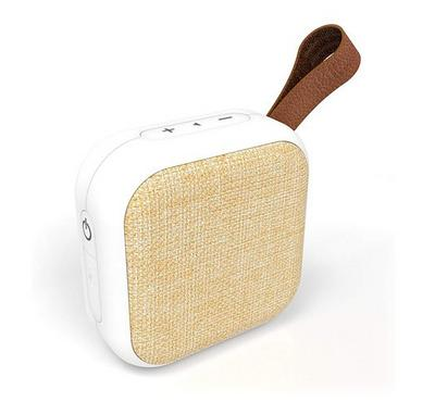 Tzumi Mini Bluetooth Square Speaker Waterproof, Brown