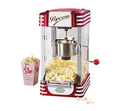 Saachi Popcorn Maker, 2.5 Ounces Stainless Steel Inner Pot,Red.
