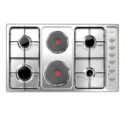 Whirlpool Built-In, Gas Hob 90cm, 4 Burners, 2 Hot Plates,Steel