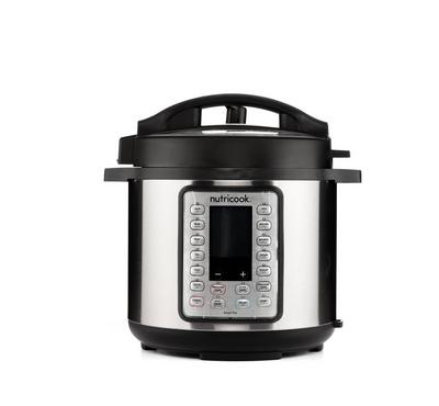 Nutricook Smart Pot Prime 6L, 1000W, Stainless Steel Cooking Pot,Black/ Silver
