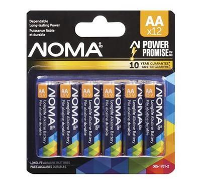 NOMA AA Alkaline Battery, 12-pk