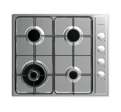 Ariston Built In Hob 60cm, 4Gas Burner with 1 Triple Ring, Full Safety, Stainless Steel