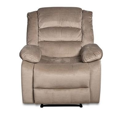 Homz Swivel Recliner Chair, Push Back, Beige
