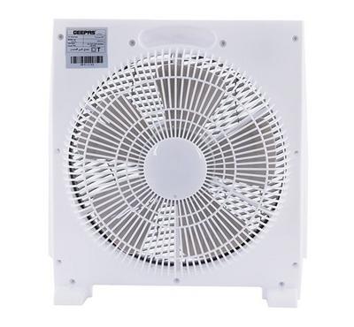 Geepas 12 Inch  Box Fan, Cooper Motor, White.