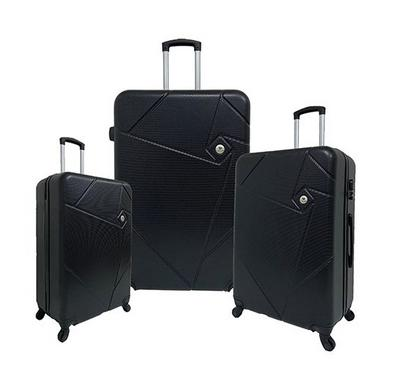 Travel Home, Soft Set Of 3 Luggage Trolley Case 20/24/28, Black