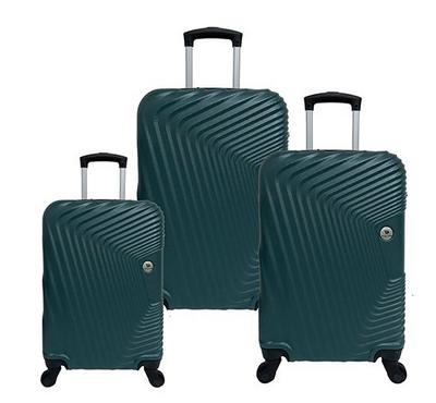 Travel Home, Curve Set Of 3 Luggage Trolley Case 20/24/28