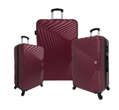 ترافل هوم، حقيبة، ثلاث قطع، أربع عجلات، أحمر غامق