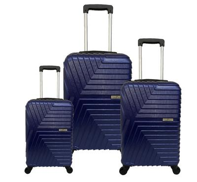 Travel Plus, ArrowSet Of 3 Luggage Trolley Case, 20/26/30, Navy