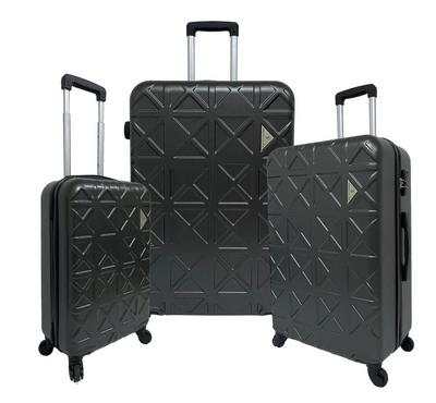 Travel Plus, Triangle Set Of 3 Luggage Trolley Case 20/26/30, Dark Grey