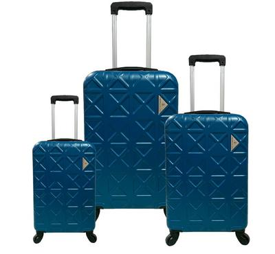 Travel Plus, TriangleSet Of 3 Luggage Trolley Case 20/26/30, Navy