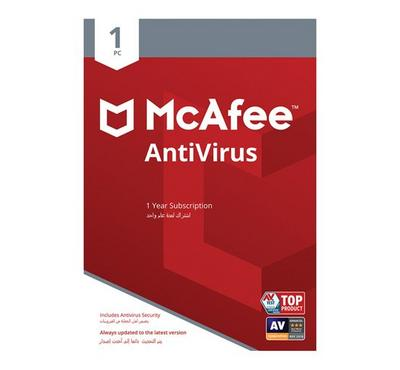 McAfee 2019 AntiVirus 1-PC SA, Product Key, Delivery by Email