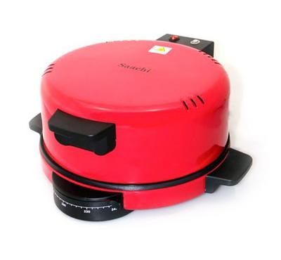 Saachi 1800W Roti Maker, 12 Inches Non-Stick Plate,Red.
