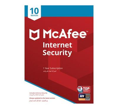McAfee 2019 Internet Security 10 User SA, Product Key, Delivery by Email