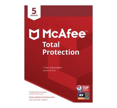 McAfee 2019 Total Protection 5 User SA, Product Key, Delivery by Email