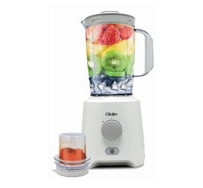 Clickon Blender, 2in1, 1.5L,  With 1 Mills Plastic Jar, 350W, White
