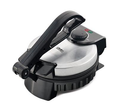 Clickon 8-Inch Chappatti Maker, 900W, Black/Stainless.