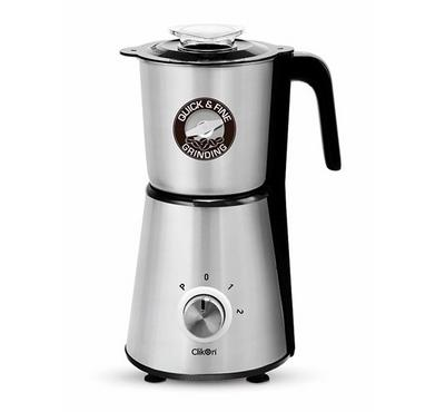Clickon Mini-Coffee Grinder, 0.8L, Stainless Ja,r 450W, Silver