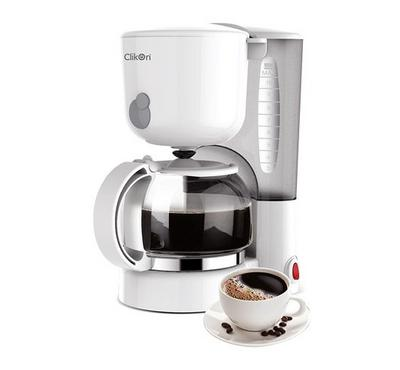 Clickon Coffee Maker,1.25L ,Plastic Body, 870W White.