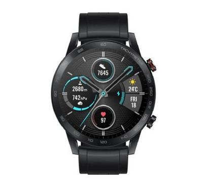 Honor Magic watch 2 with fluoroelastlomer strap 46MM, Charcoal Black
