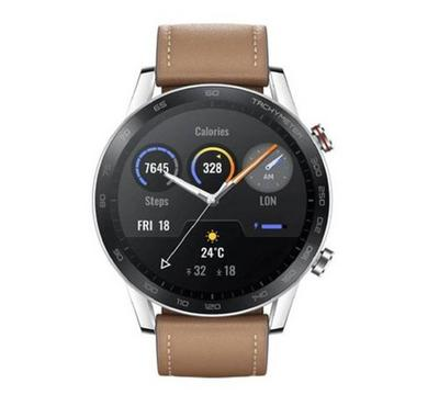 HONOR MagicWatch 2 with Leather Strap 46MM,Flax Brown