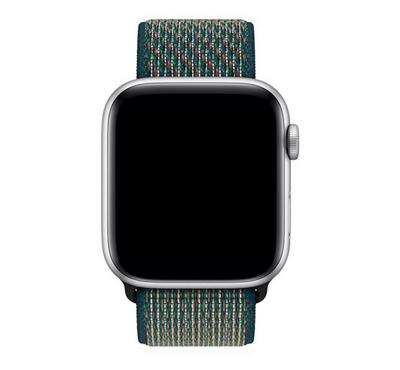 Apple 44mm Nike Sport loop Band,Hyper Crimson,Neptune Green