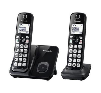 Panasonic, 2 Handset, Digital Cordless Phone, 1.6 inch LCD display