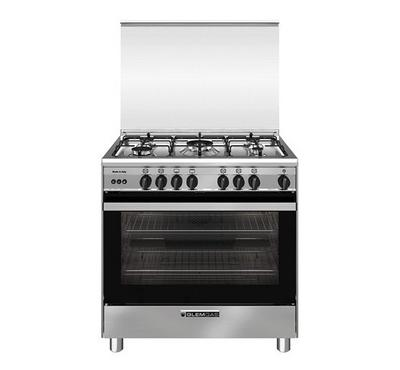Glemgas Gas Cooking Range,80x60cm, 5 Gas Burners, Full Safety Stainless Steel.