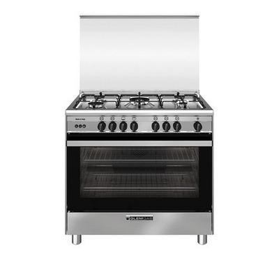Glemgas Gas Cooking Range,90x60cm, 5 Gas Burners, Full Safety Stainless Steel.