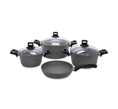 Alberto, Granite 7Pcs Cookware, Graystone