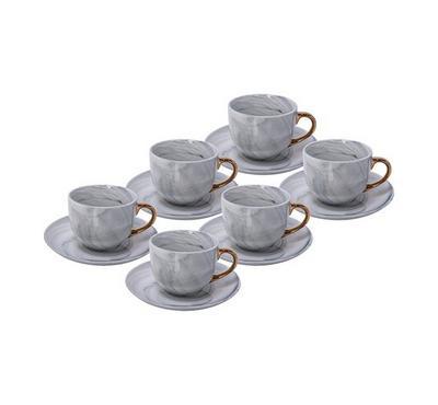 لاميسا، طقم 12 قطعة أكواب الشاي، تصميم الرخام