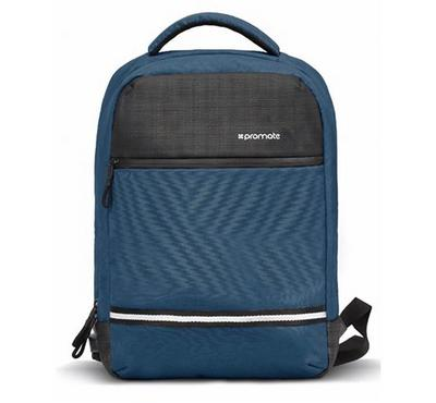 Promate, Anti-Theft Laptop Backpack with USB Port, Blue