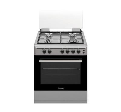 Hommer 60x60 Gas Cooker, 4 Gas Burners, full safety, Stainless Steel.