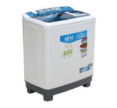 Akai Twin Tub Semi Automatic Washing Machine,7kg , White.