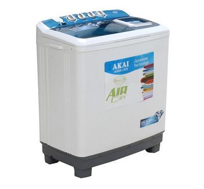 Akai Twin Tub Semi Automatic Washing Machine,16kg , White.