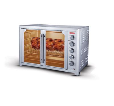 Power Electric Oven 100 Ltr, French Door, 2800 Watts, Silver