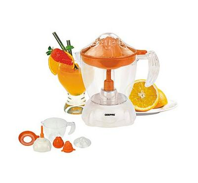 Geepas Citrus Juicer, Capacity 1 Ltr AS Plastic Cup, White.