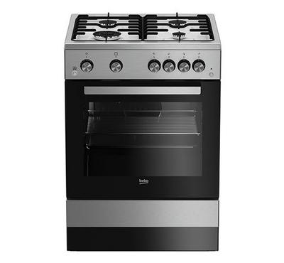 Beko Freestanding Cooker ,60X60, 4 Gas Burner, Full Safety, Inox
