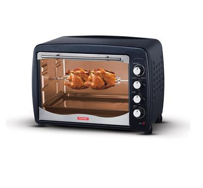 Power Electric Oven,65L, 1500W, Rotisserie with Fan, Black