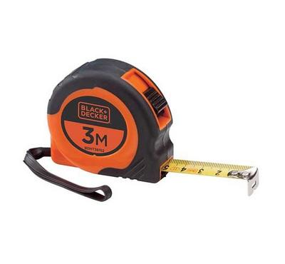 Black & Decker, Bi-Mat Short Tape, 3mX16mm, Black Orange