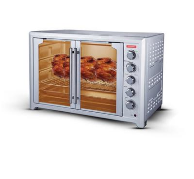 Power  Electric Oven, 2800W,120L, French Door, Rotisserie with Fan, White.