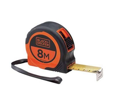 Black & Decker, Bi-Mat Short Tape, 8mX25mm, Black Orange