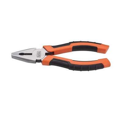 Black & Decker, Combination Pliers, 160mm, Black Orange