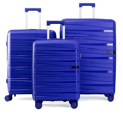 Travel Plus, PP Dash Set Of 3 Luggage Trolley Case 20/24/28