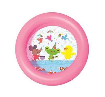 Bestway Round, 2 Ring Kiddie Pool, Pink