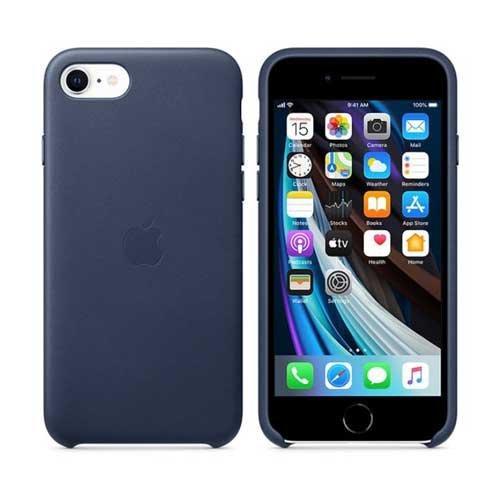 Apple iPhone SE 2020 Leather Case, Midnight Blue - eXtra Saudi